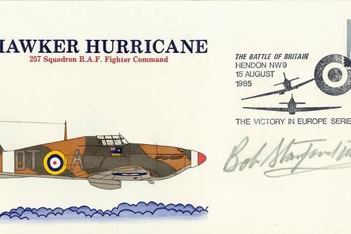 Battle Of Britain Cover Signed BoB Pilot Bob Stanford-Tuck