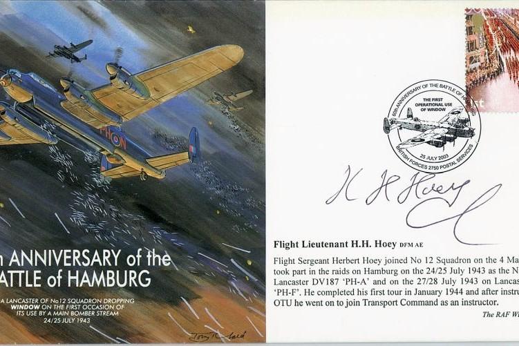Battle Of Hamburg Cover Signed H H Hoey