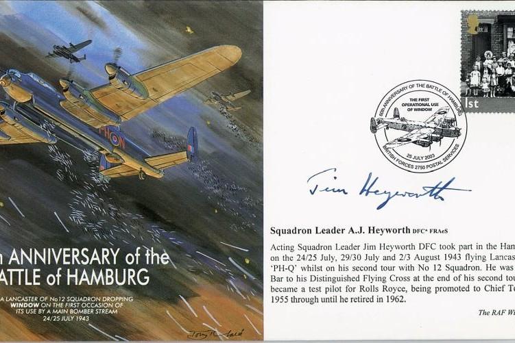 Battle Of Hamburg Signed A J Heyworth
