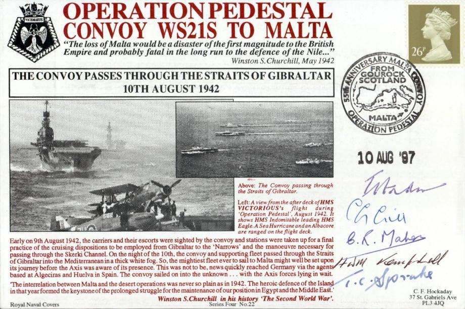 Malta GC cover Sgd 5 seaman in Op Pedestal
