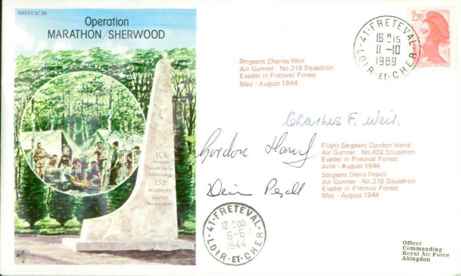 Operation Marathon/Sherwood cover Sgd C Weir G Hand and D Pepall