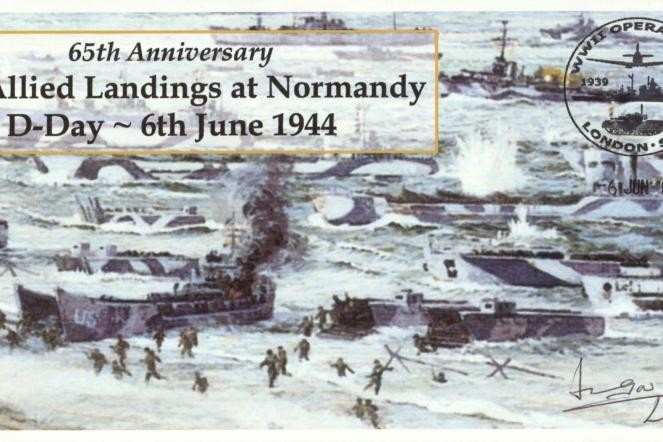 D Day cover Sgd by Sir Michael Gow