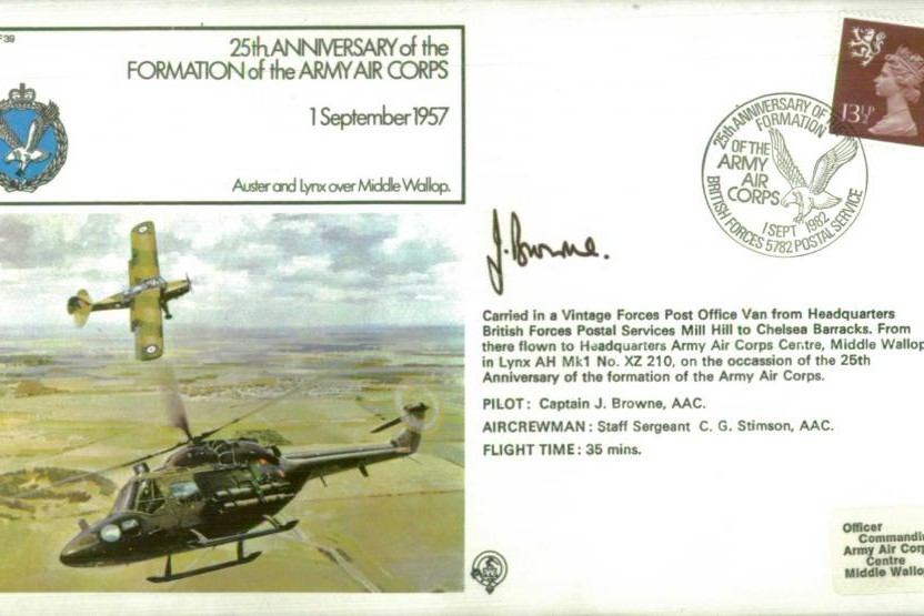 Army Air Corps Cover Signed Pilot J Browne