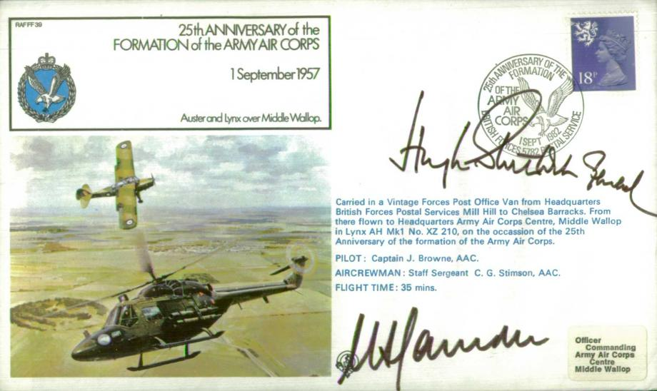 Army Air Corps Cover Signed Farndale And Stockwell