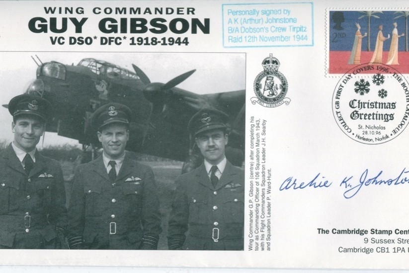 106 Squadron cover Sgd A K Arthur Johnstone of 617 Sq