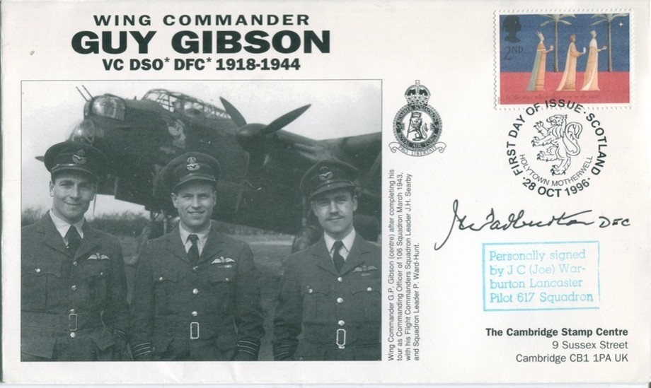 106 Squadron cover Sgd J C Warburton of 57 Sq and 617 Sq