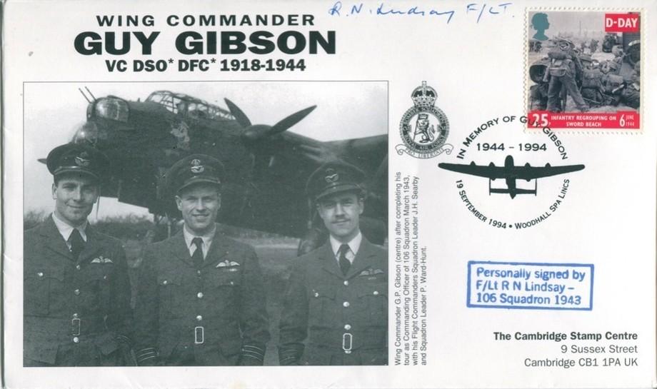 106 Squadron cover Sgd R N Lindsay of 106 Sq