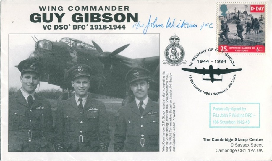 106 Squadron cover Sgd J F Wickins of 106 Sq