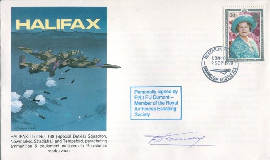 Halifax cover Sgd F J Dumont