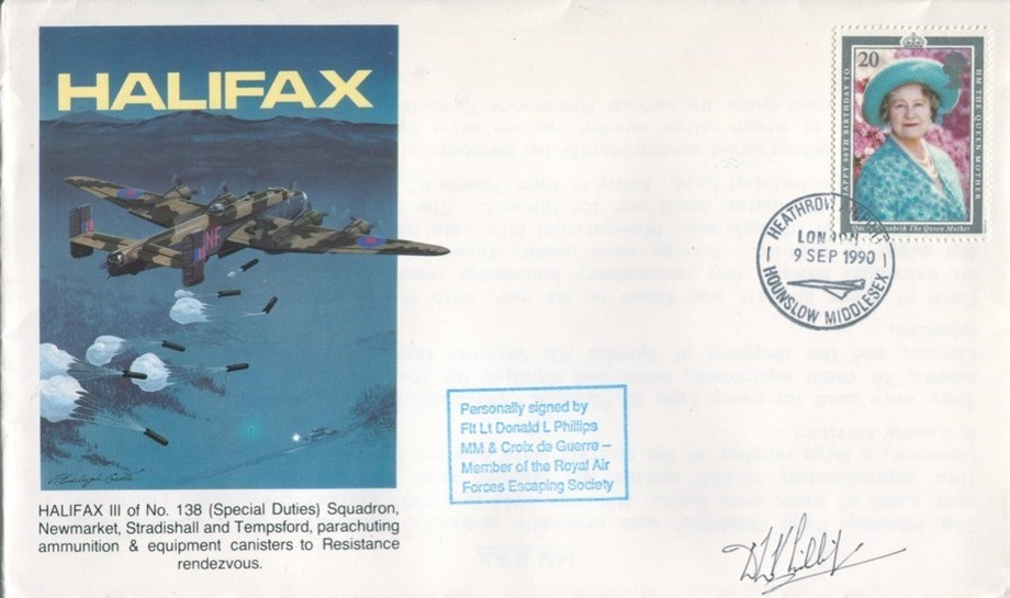 Halifax cover Sgd D L Phillips