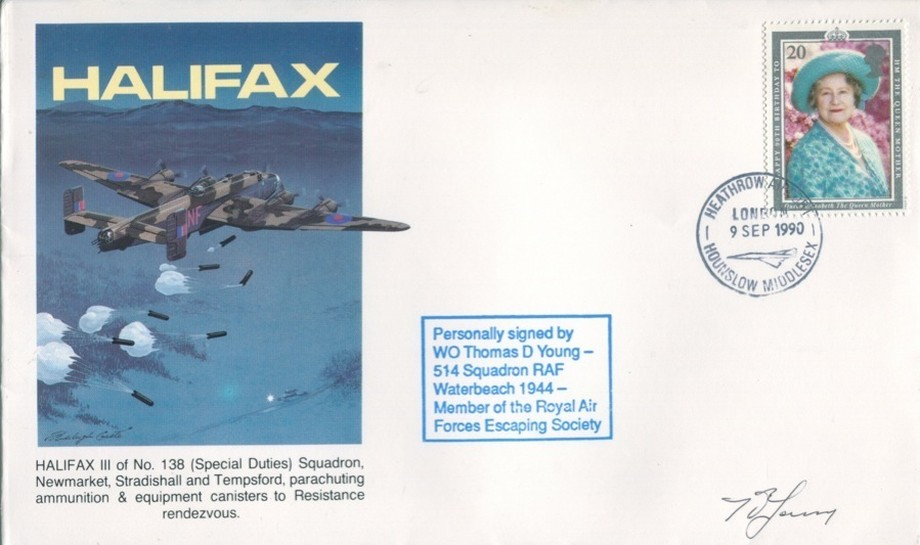 Halifax cover Sgd T D Young of 514 Sq