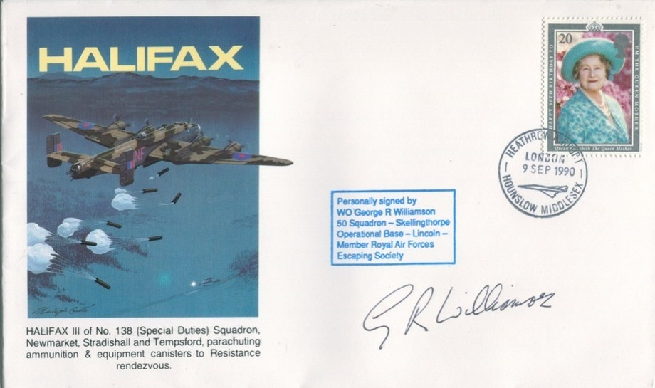 Halifax cover Sgd G R Williamson of 50 Sq