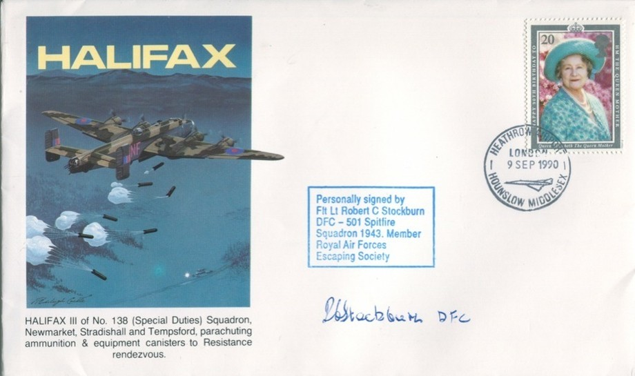 Halifax cover Sgd R C Stockburn of 501 Sq