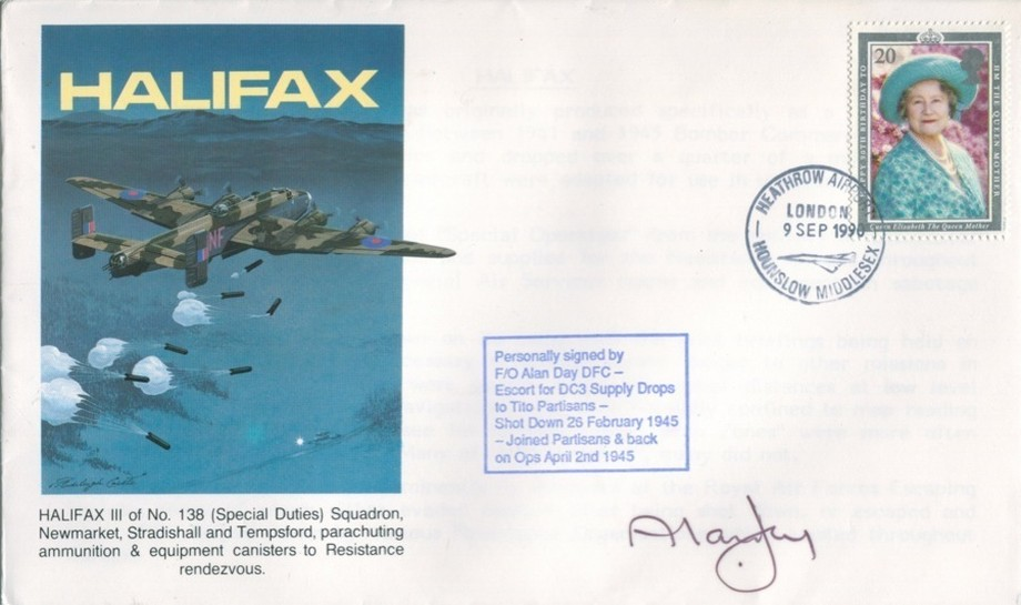 Halifax cover Sgd Escapee Alan Day
