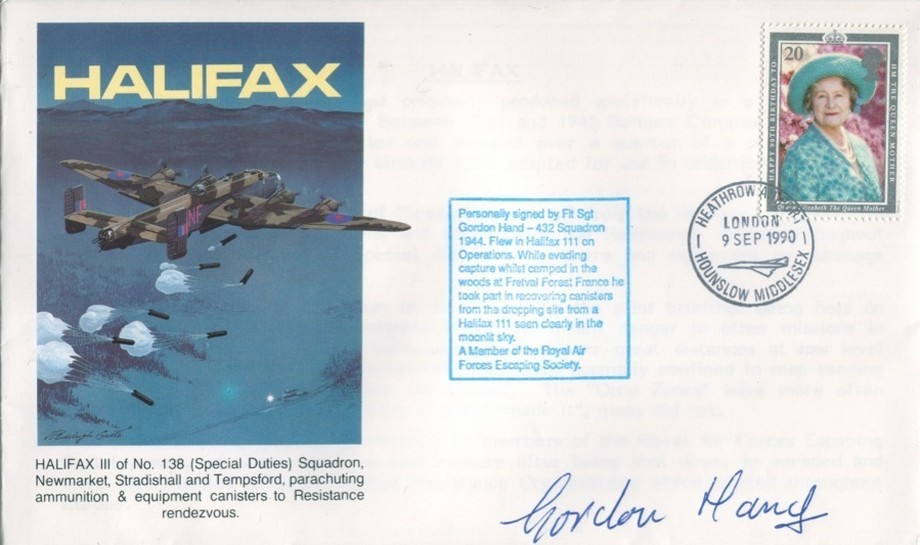 Halifax cover Sgd G Hand of 432 Sq