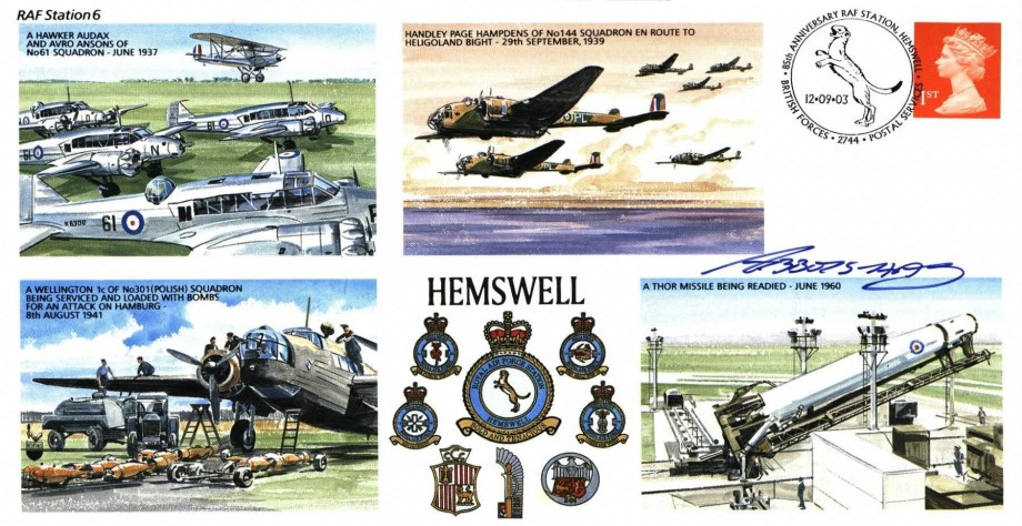 RAF Hemswell cover Sgd pilot Lord of Abbots-Hay
