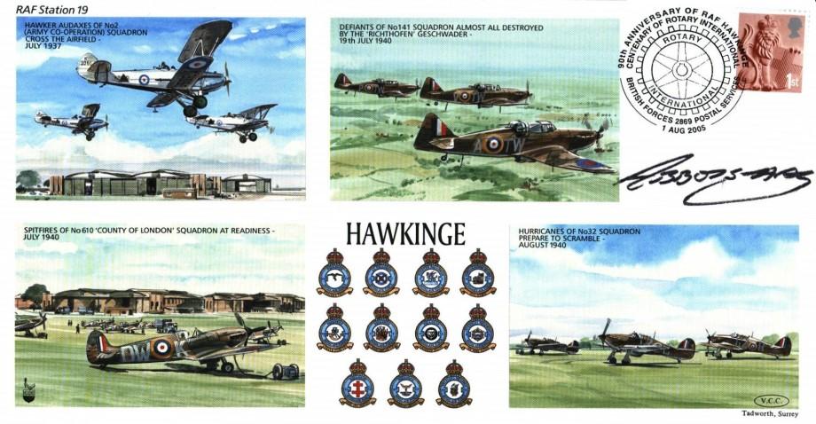 RAF Hawkinge cover Sgd pilot Lord of Abbots-Hay