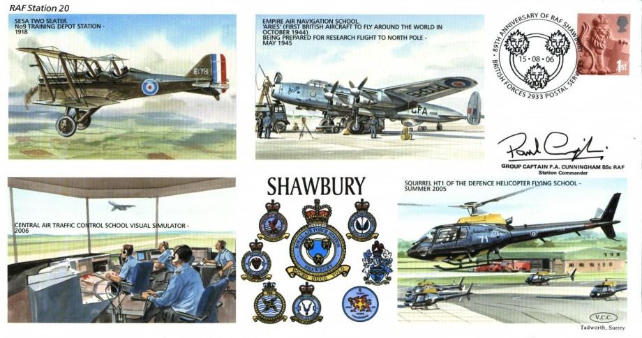 RAF Shawbury cover Sgd P A Cunningham the Station Commander
