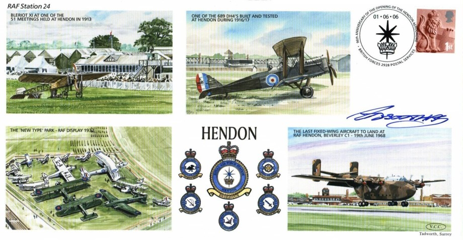 RAF Hendon cover Sgd Lord of Abbots-Hay