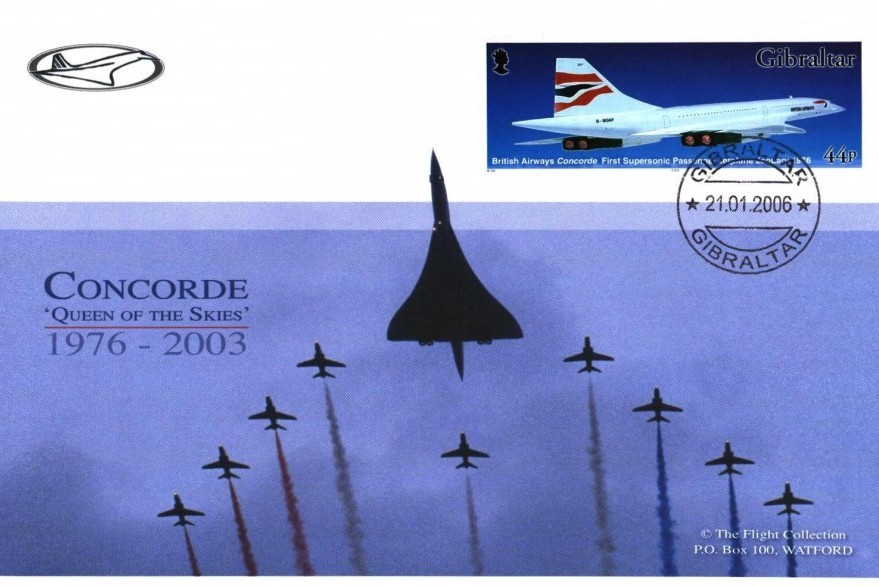Red Arrows cover and Concorde