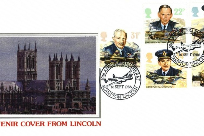 5oth Anniversary Of The RAF FDC Scampton Postmark