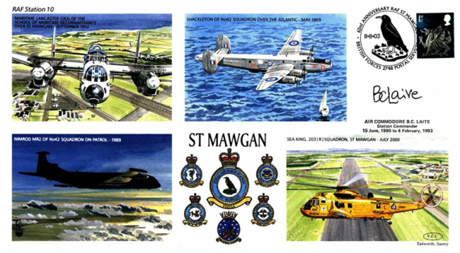 RAF St Mawgan cover Sgd B C Laite Station Commander 1990 to 1993
