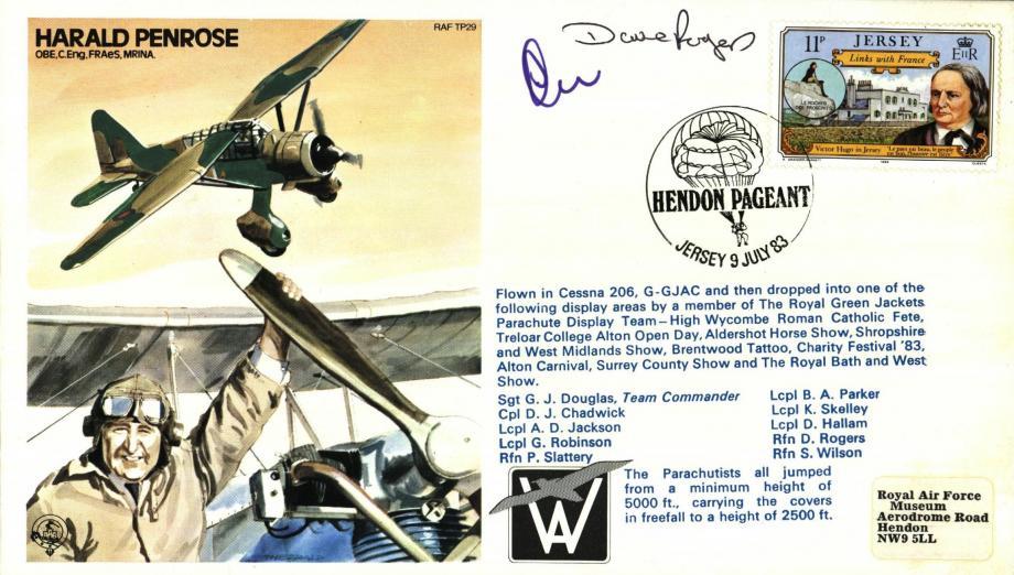 Harald Penrose the Test Pilot cover Sgd 2 parachutists