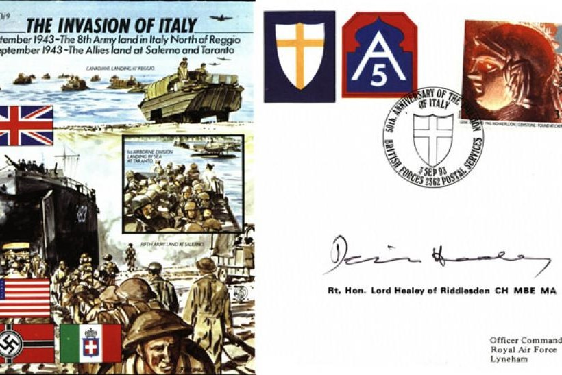 Invasion of Italy cover Sgd Denis Healey