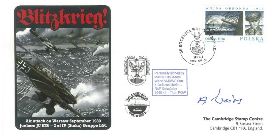 RAF Swindersby cover Sgd polish Pilot Adam Weiss