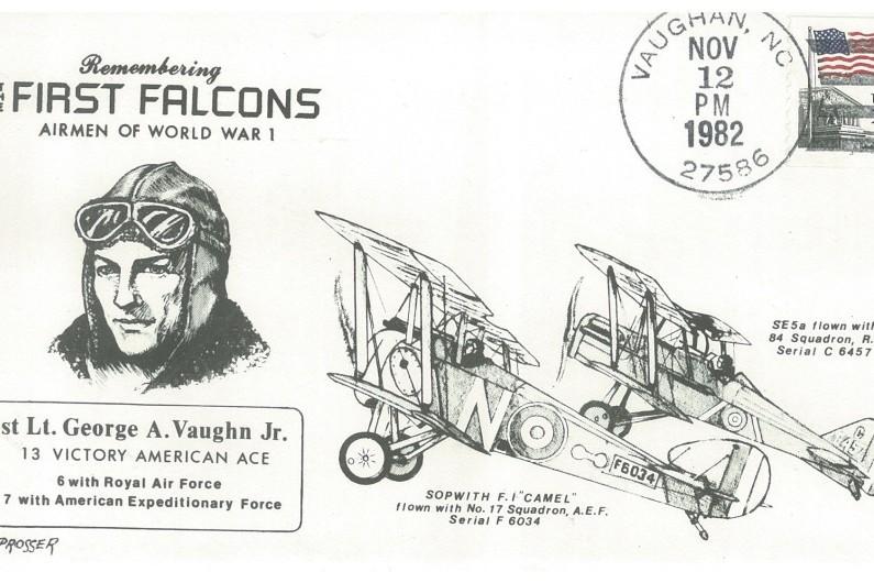 1st Lt G A Vaughan cover WW1 US pilot