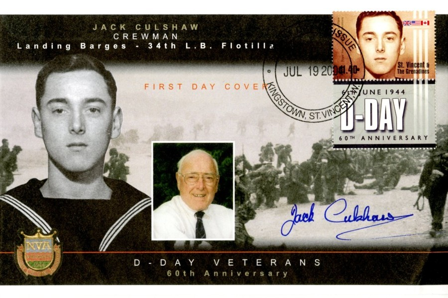D Day cover Sgd byJack Culshaw