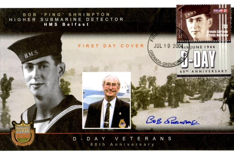 D Day cover Sgd by Bob Ping Shrimpton