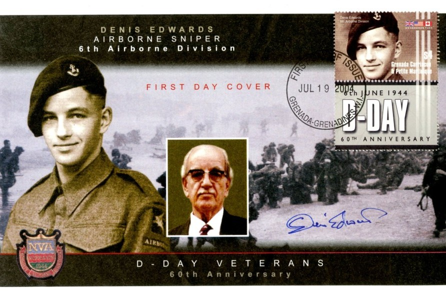 D Day cover Sgd by D Edwards