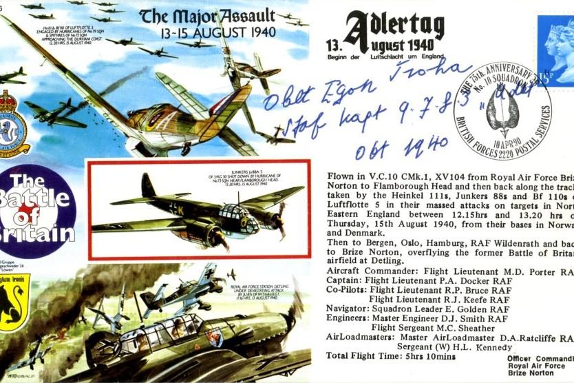 Luftwaffe cover Sgd Egan Froha