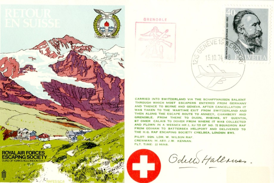Retour en Suisse cover Sgd Odette Hallowes the Resistance Leader