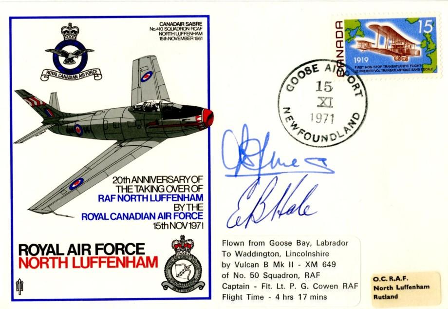 RAF North Luffenham cover 2 unknown sigs