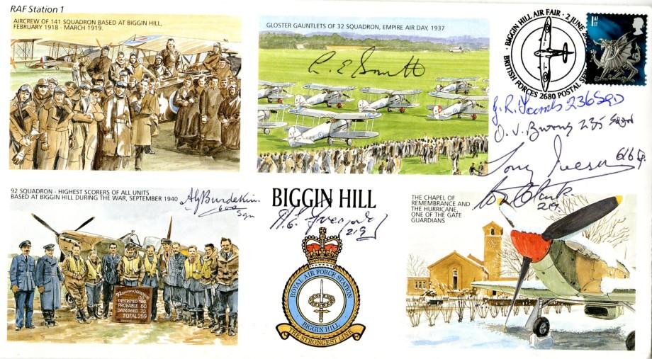 RAF Biggin Hill cover Sgd 7 BoB Pilots