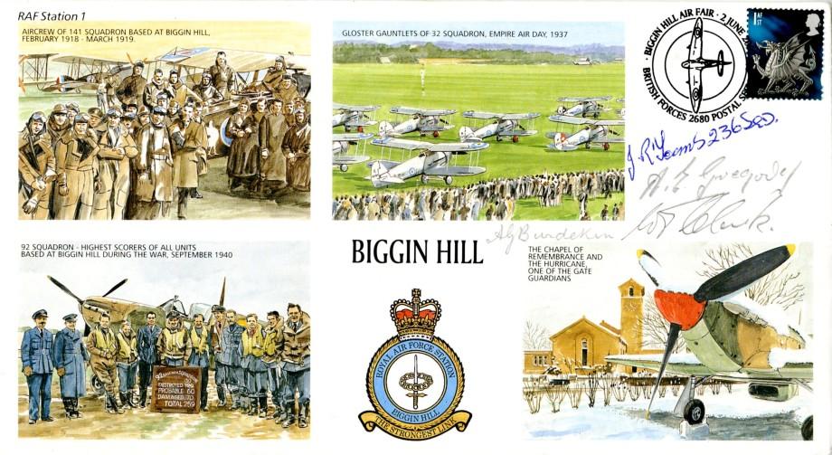 RAF Biggin Hill cover Sgd 4 BoB Pilots