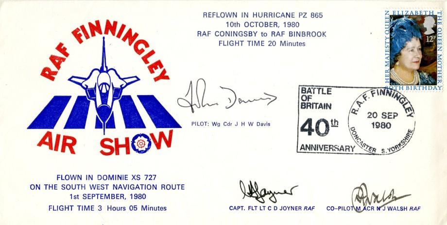 RAF Finningley cover Sgd C D Joyner N J Walsh and J H W Davis