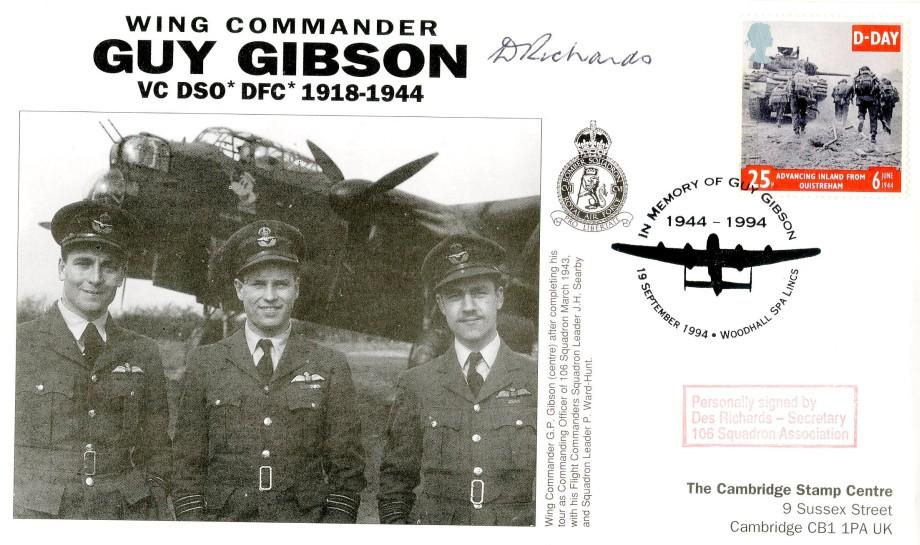 106 Squadron cover Sgd Des Richards