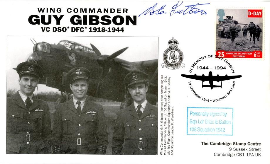 106 Squadron cover Sgd B E Sutton of 106 Sq