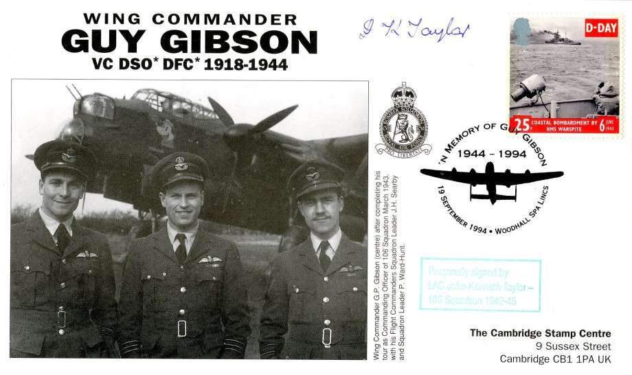 106 Squadron cover Sgd J K Taylor of 106 Sq