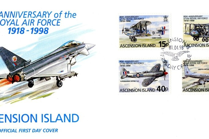 80th Anniversary of the RAF cover Ascension Island FDC