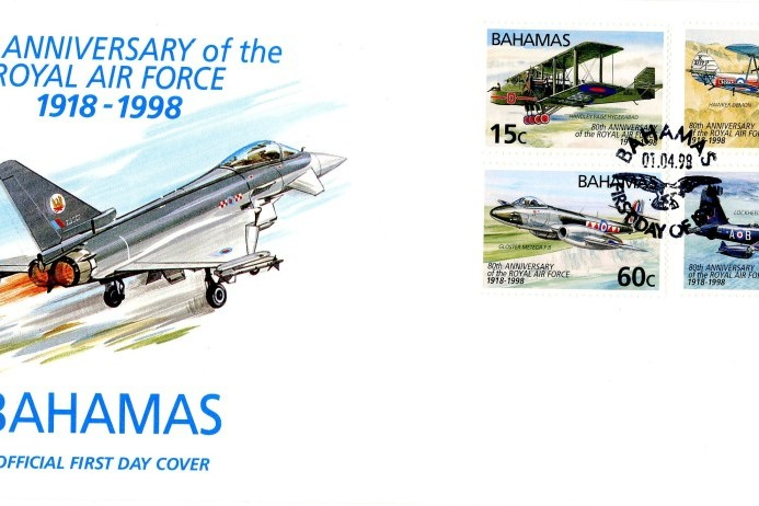 80th Anniversary of the RAF cover Bahamas FDC