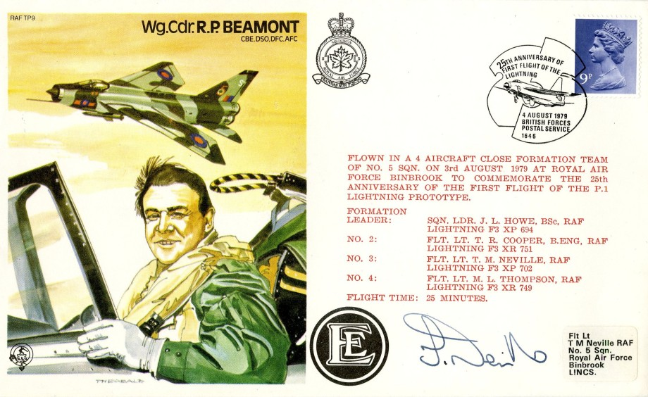 R P Beamont the Test Pilot cover Sgd T M Neville