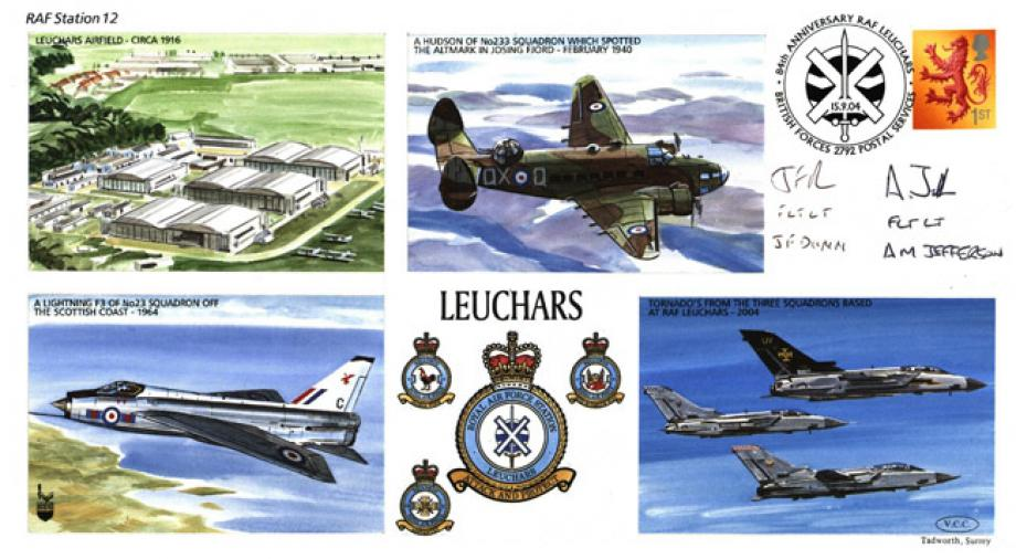 RAF Leuchars cover Sgd J F Dunn and A M Jefferson