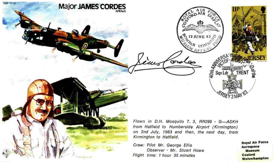 Major James Cordes the Test Pilot cover Sgd Major James Cordes