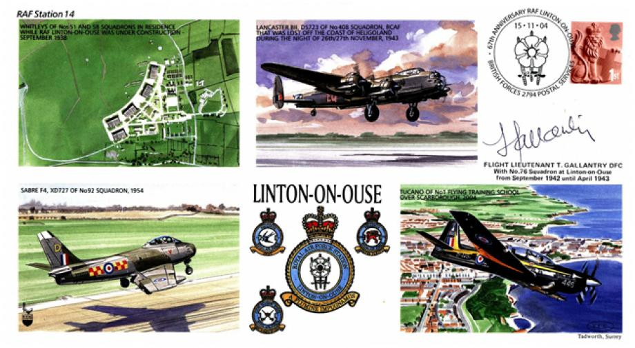 RAF Linton On Ouse cover Sgd T Gallantry of 76 Sq