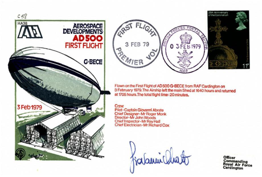 Giovanni Abrate AD500 First Flight Airship Cover Aerospace Developments