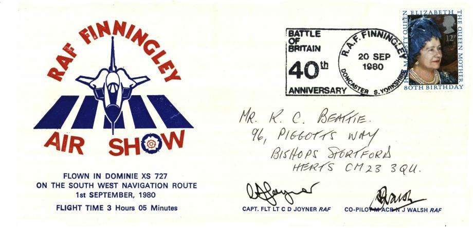 RAF Finningley cover Sgd C D Joyner and N J Walsh